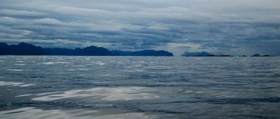 Skagakaia: View from the kayak.