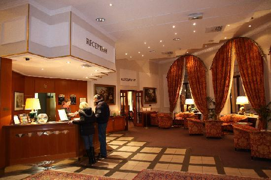 Hall picture of grand hotel bohemia prague tripadvisor for Grand hotel bohemia hotel prague