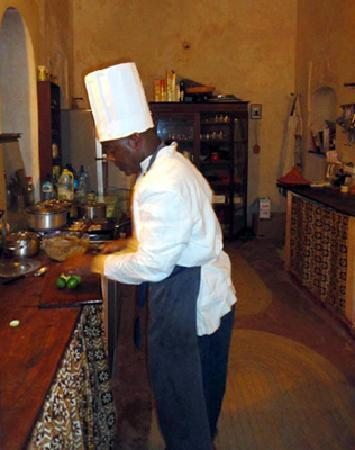 Subira House: Our skilled chef Michael