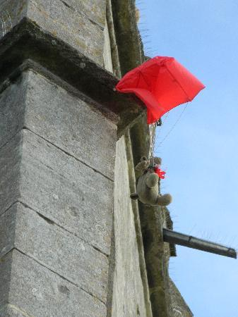Falcon Inn: Teddy gets hung up following the ancient clypping ceremony at St Mary's Painswick