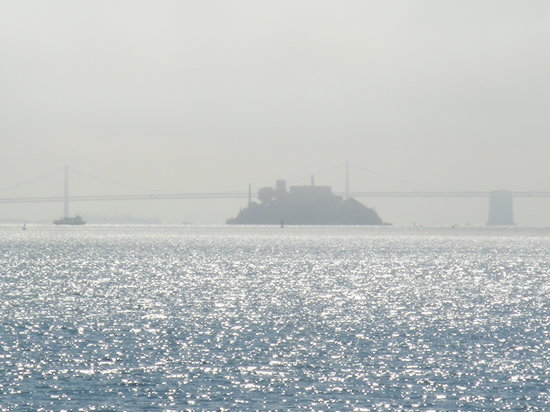 The Inn Above Tide: Alcatraz from our balcony