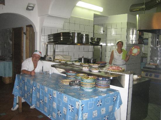 La Tagliata: Mamma & papi in their veru clean kitchen