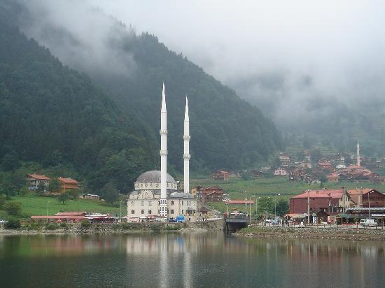 Inan Kardesler Hotel: Lake and mosque