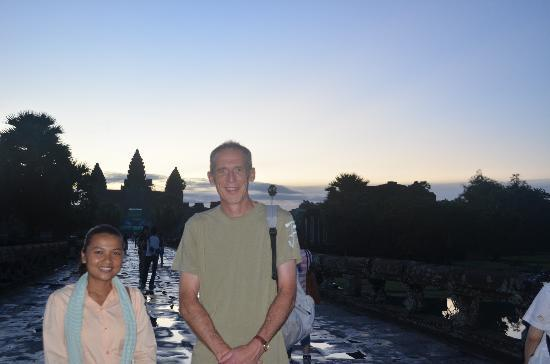 Angkor Guide Sopanha Private Tours: vatey..the star guide...and me!