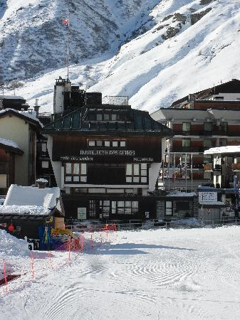 Hostellerie des Guides: View from the slopes