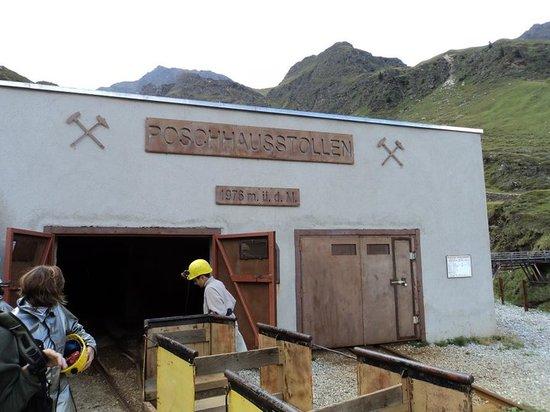 Moso in Passiria (Moos in Passeier), Italien: entrata della miniera