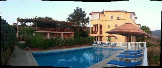 Gelemis Apart Hotel : Pool, Apartmenthaus, Frühstücksterrasse,
