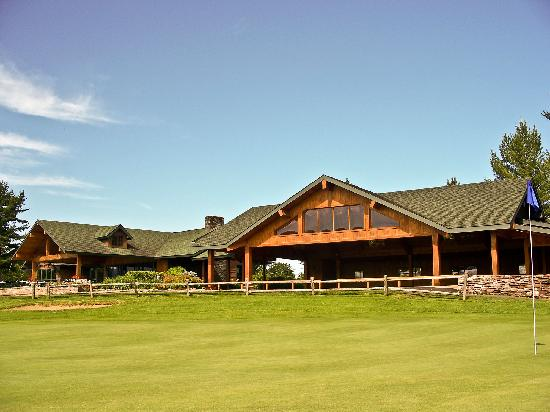 The Golf House Restaurant and Pavilion, seen from the Lake Placid Club Golf Courses.
