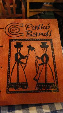 Patko Bandi: il menù