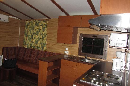 Disney's Davy Crockett Ranch: cucina+salotto