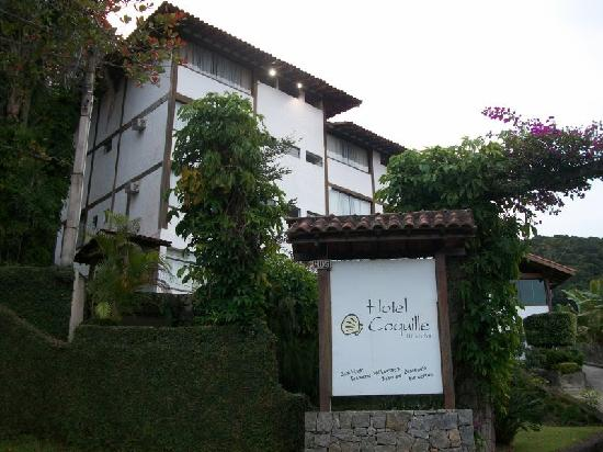 Hotel Coquille - Ubatuba : fachada do hotel