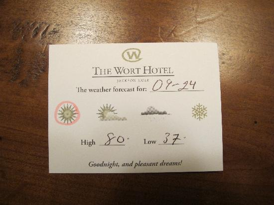 The Wort Hotel: Got the weather with turn down service