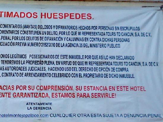 Montejo Palace: problemas legales 2