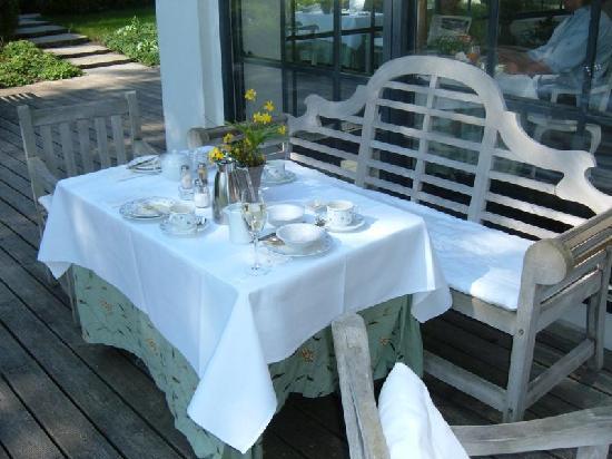 Bleiche Resort & Spa: Frühstück im Freien