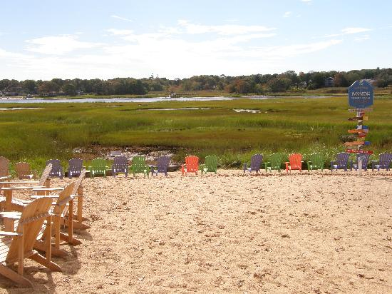 """Bayside Resort Hotel: """"beach"""" out the back"""