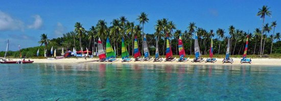 Romblon, Filipinas: Hobie Cat Sailing at Anchor Bay Water Sports Resort Philippines