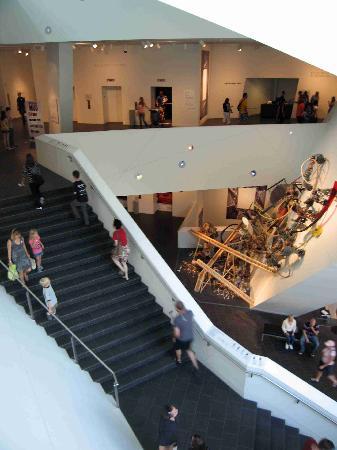 Denver Art Museum: Main lobby stairwell - Hamilton Building