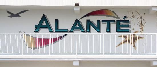 Alante Oceanfront Motel: Alante Logo Painted On Building.