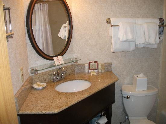 DoubleTree by Hilton McLean Tysons: small bathroom