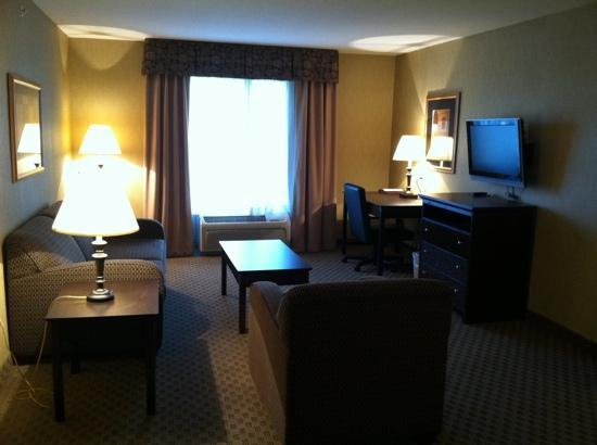 Comfort Suites Milwaukee - Park Place: large sitting area and work.desk