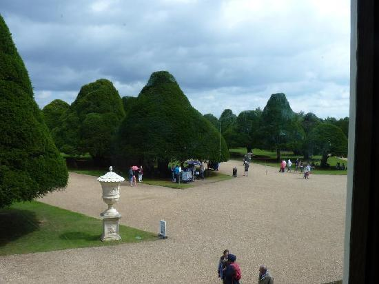 Hampton Court Palace: A view from the palace towards the gardens