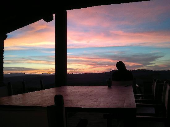Podre al Salcio: SUNSET FROM THE VERANDAH