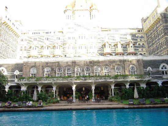 The Taj Mahal Palace: Eating by the pool is a beautiful experience.
