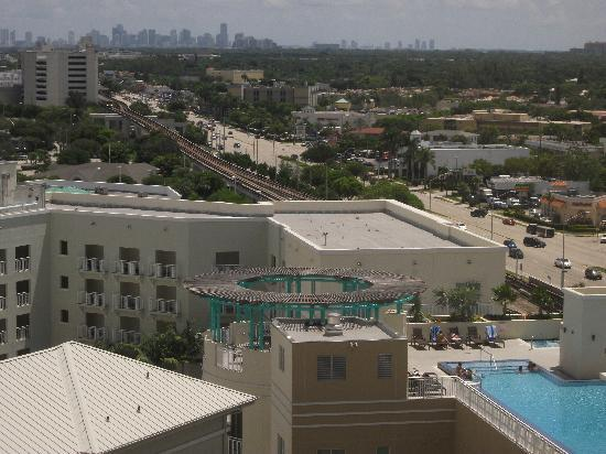 Miami Marriott Dadeland: view toward downtown Miami