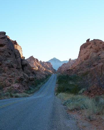 Valley of Fire State Park: Along the road - dusk