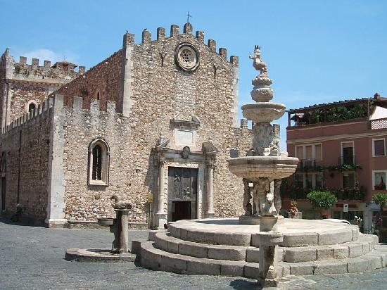 Taormina, Italië: piazza
