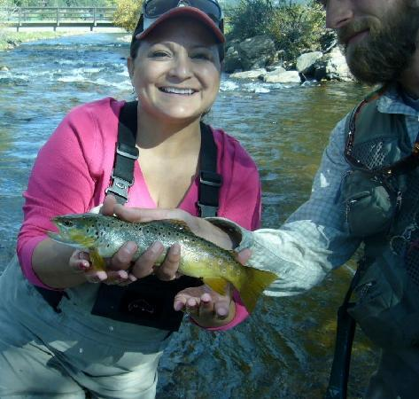 Kirks Flyshop & Mountain Adventures: I caught my first trout!