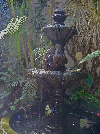 Las Sabilas: fountain at the front