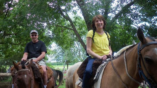 Tangol - Full Day San Antonio de Areco with Ranch: My wife and I getting ready to go horseback riding for the first time
