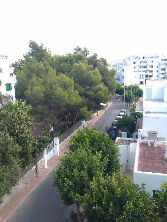 Hostal Valencia: view from balcony