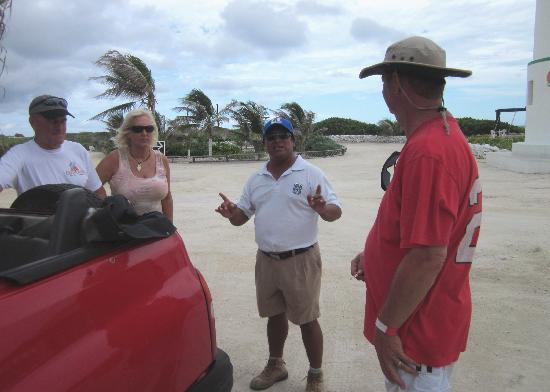 Faro Celerain Ecological Reserve: Our Mayan guide greeted us before we were even out of the car