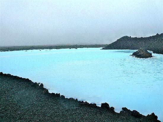 Blue Lagoon Iceland: Picture was taken outside of the swimming area.
