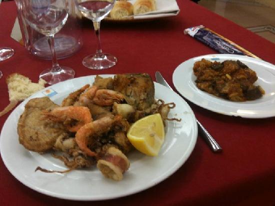 Hotel Sabbia d'Oro : Frittura Mista