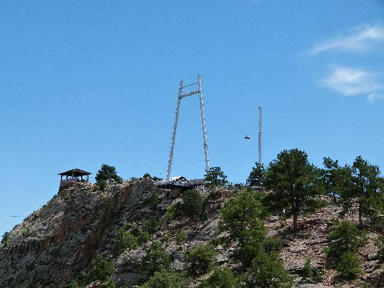 Royal Gorge Bridge and Park: try getting slingshot towards the gorge