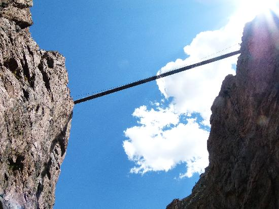 Royal Gorge Bridge and Park: view from below