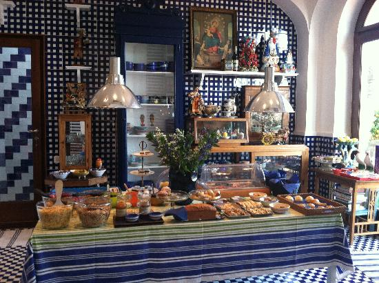 Maison La Minervetta: Breakfast fit for a King