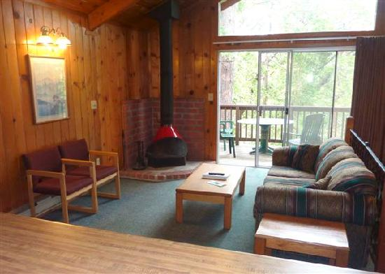 Bass Lake, Californien: Living room area