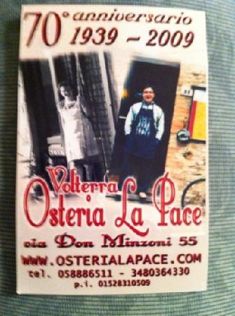 Osteria La Pace: x chi si trova a Volterra...approfittatene!