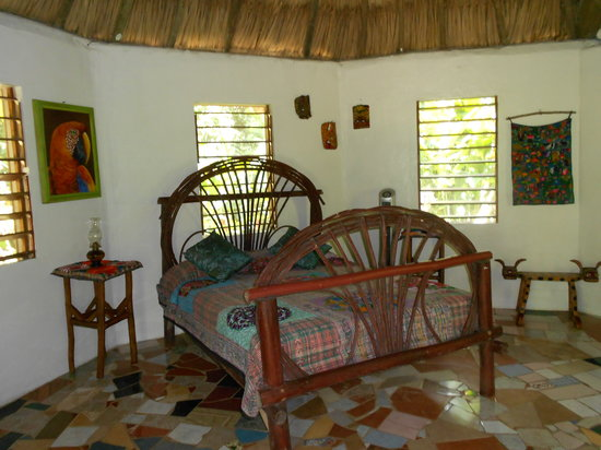 Macaw Bank Jungle Lodge: Interior shot of Butterfly Cabana