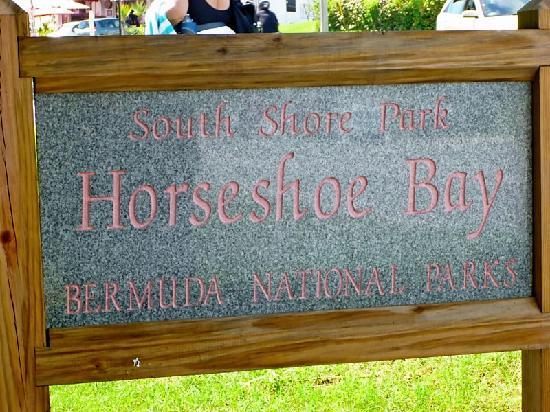 Horseshoe Bay Beach: Sign of Horseshoe Bay