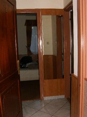Villa Korall: room straight ahead, bathroom to right