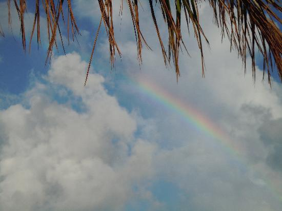 Hotel Riu Palace Paradise Island: Rainbow after a rainshower