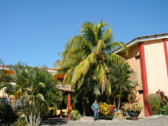 One of the larger buildings on the grounds of Hotel Santa Cruz