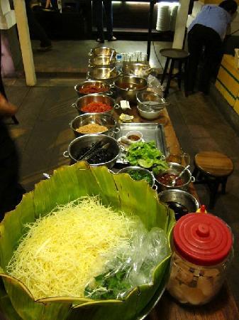 Nha Hang Ngon: Part of the kitchen