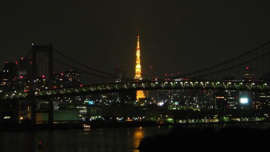 โรงแรมนิกโกะ โตเกียว: レインボーブリッジが節電中で寂しい夜景