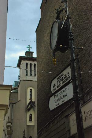 St. Teresa's Church: Follow the signs
